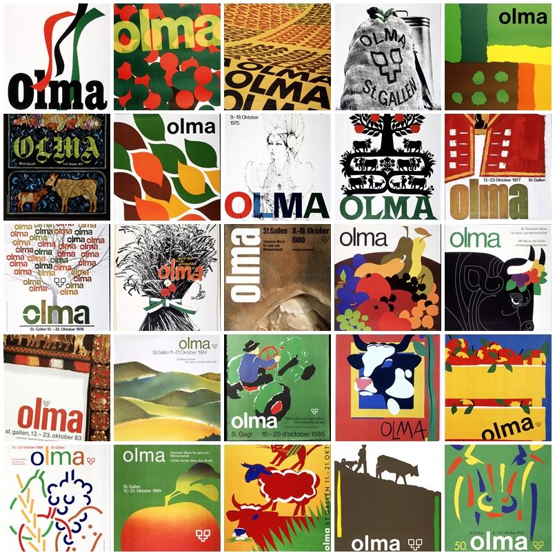 Einladungen 1968 - 1992. Mit freundlicher Genehmigung der Olma Messen St.Gallen.